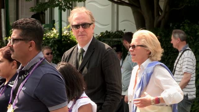 Alan Rickman at Wimbledon 2013 Video Sightings on July 06 2013 in London England