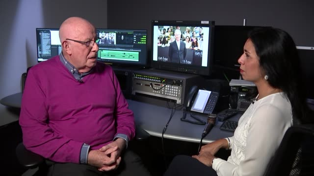 Richard Wilson interview ENGLAND London INT Richard Wilson interview with reporter in shot SOT