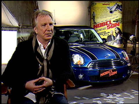 alan rickman on where this character fits into his favorites. at the 'nobel son' junket at los angeles ca. - アラン・リックマン点の映像素材/bロール