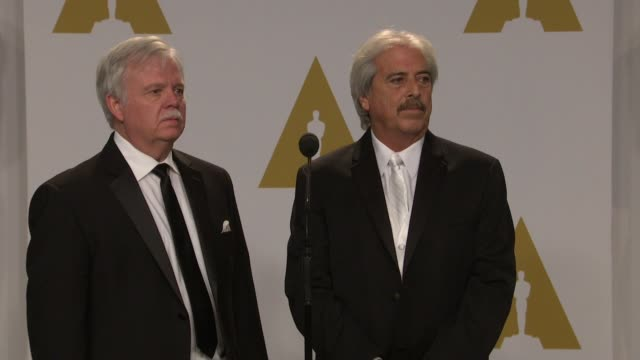 stockvideo's en b-roll-footage met speech alan robert murray and bub asman at the 87th annual academy awards press room at dolby theatre on february 22 2015 in hollywood california - dolby theatre