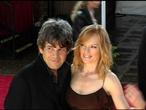 alan rosenberg and marg helgenberger at the 2005 people's choice awards arrivals at the pasadena civic auditorium in pasadena california on january... - pasadena civic auditorium stock-videos und b-roll-filmmaterial