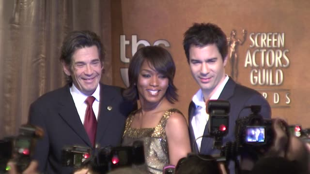 Alan Rosenberg Angela Bassett and Eric McCormack at the 15th Annual Screen Actors Guild Awards nominations at Los Angeles CA