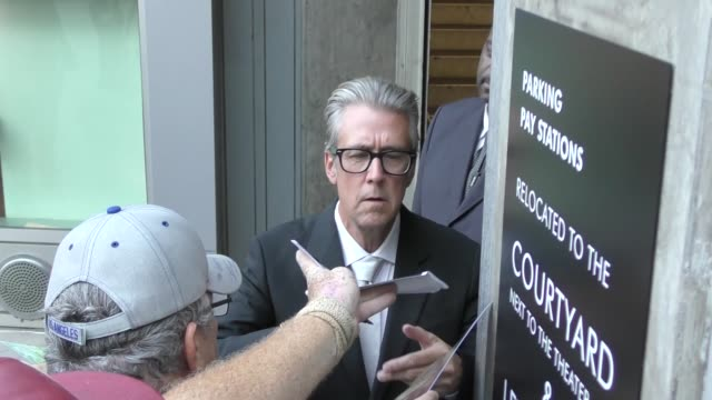 alan ruck signs for fans at the premiere of netflix's sierra burgess is a loser at arclight cinemas in hollywood in celebrity sightings in los angeles - arclight cinemas hollywood stock videos & royalty-free footage