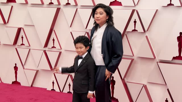 alan s. kim and vicky ki at the93rd annual academy awards - arrivals onapril25, 2021. - academy awards stock videos & royalty-free footage