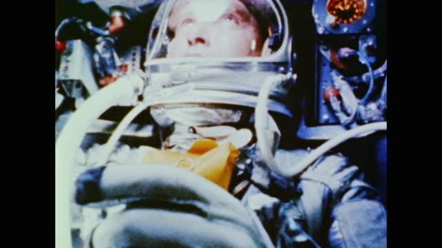 alan shepard in spacecraft - alan b. shepard jr stock videos & royalty-free footage