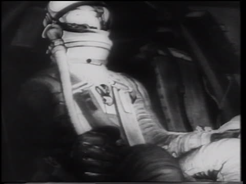 alan shepard in spacesuit sitting in mercury 3 space capsule / first american in space - only mid adult men stock videos & royalty-free footage