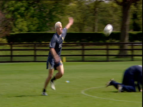 Alan Smith scoring a spectacular volley at shooting practice Leeds United FC Thorp Arch Wetherby 24 Apr 04