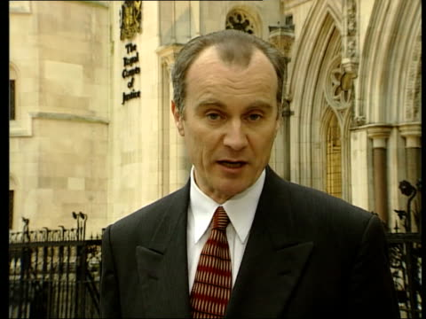 alan sugar wins libel victory:; itn england: london: i/c tx 16.2.2001/en - 文書による名誉棄損点の映像素材/bロール