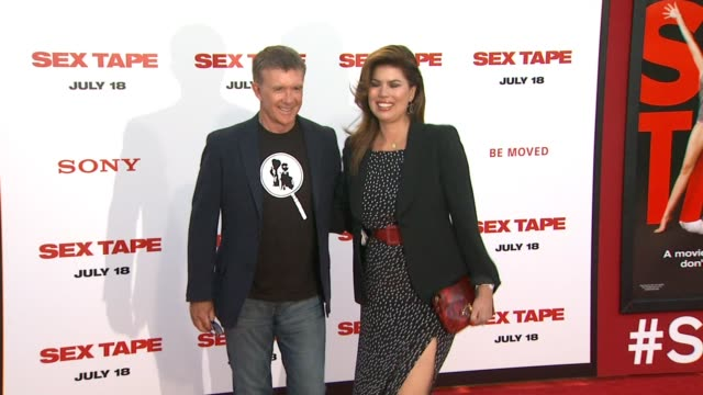 alan thicke at the sex tape los angeles premiere at regency village theatre on july 10 2014 in westwood california - regency village theater stock videos & royalty-free footage