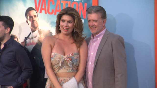alan thicke at the vacation los angeles premiere at regency village theatre on july 27 2015 in westwood california - regency village theater stock videos and b-roll footage