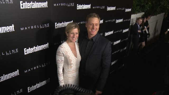 alan tudyk and charissa barton at 2016 entertainment weekly screen actors guild party at chateau marmont on january 29 2016 in los angeles california - entertainment weekly stock-videos und b-roll-filmmaterial