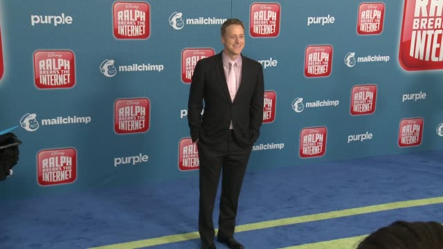 """alan tudyk at the """"ralph breaks the internet"""" world premiere at the el capitan theatre on november 05, 2018 in hollywood, california. - el capitan theatre stock videos & royalty-free footage"""