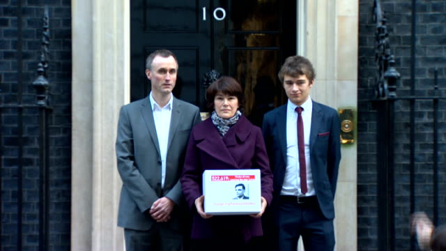 Alan Turing's family present petition to Prime Minister ENGLAND London Downing Street EXT Relatives of Alan Turing and Attitude magazine editor...