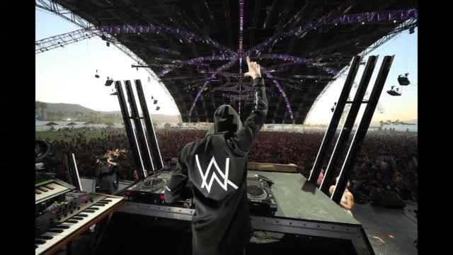 Alan Walker performs onstage during the 2018 Coachella Valley Music And Arts Festival at the Empire Polo Field on April 20 2018 in Indio California