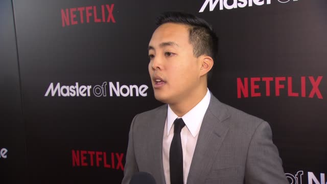 interview alan yang discusses what makes the show unique at master of none new york premiere at amc loews 19th street theater on november 05 2015 in... - amc loews stock videos and b-roll footage