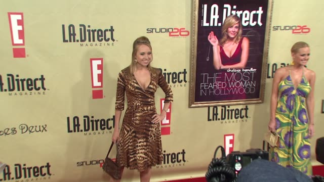 alana curry at the la direct magazine's holiday party at les deux in los angeles california on december 14 2007 - les deux club stock videos & royalty-free footage