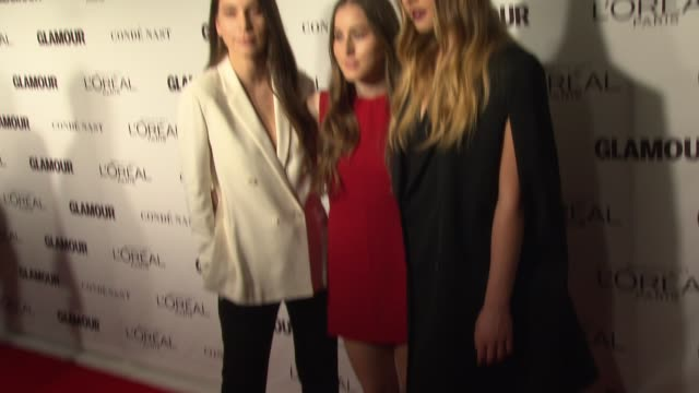 Alana Haim Danielle Haim and Este Haim at Glamour Magazine's 24th Annual Women Of The Year Awards at Carnegie Hall on November 10 2014 in New York...