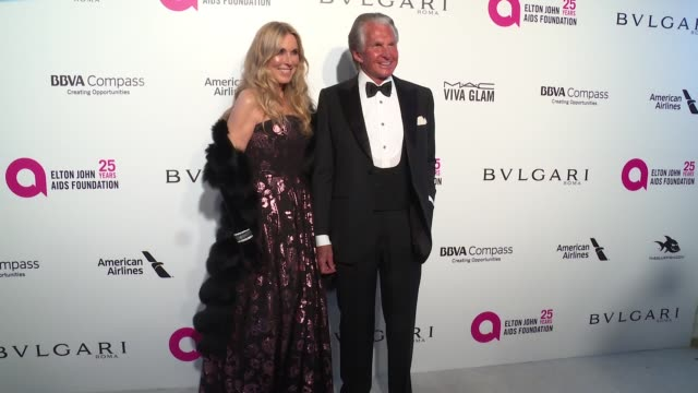 alana stewart and george hamilton at the elton john aids foundation presents the 26th annual academy awards viewing party on march 04, 2018 in west... - alana stewart stock videos & royalty-free footage