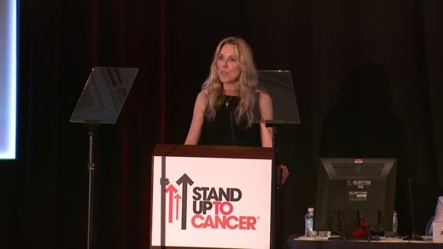 alana stewart at stand up to cancer press event at the aacr annual meeting in san diego, ca 4/7/14 - alana stewart stock videos & royalty-free footage