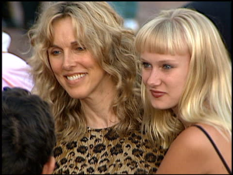 alana stewart at the 'conspiracy theory' premiere at the mann village theatre in westwood, california on august 4, 1997. - alana stewart stock videos & royalty-free footage
