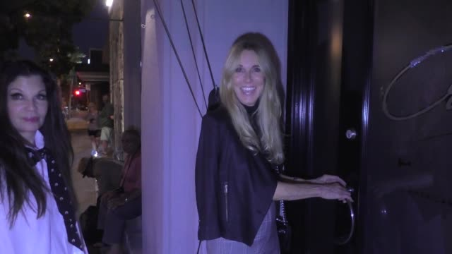 alana stewart calls michael avenatti a sleaze ball as she arrives for dinner at craig's in west hollywood in celebrity sightings in los angeles, - alana stewart stock videos & royalty-free footage