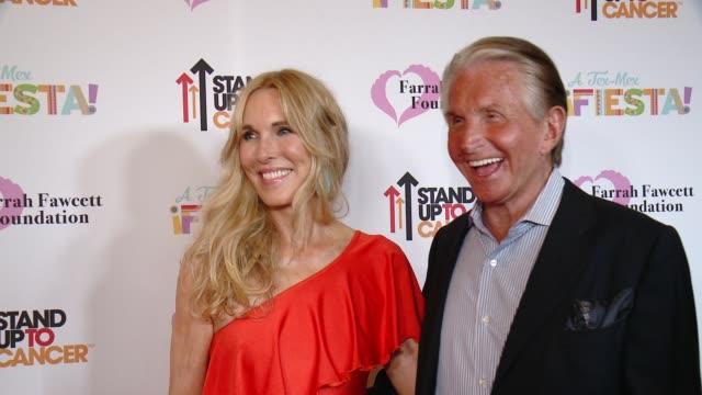 "alana stewart, george hamilton at farrah fawcett foundation's ""tex-mex fiesta"" 2017 in los angeles, ca 9/9/17 - alana stewart stock videos & royalty-free footage"
