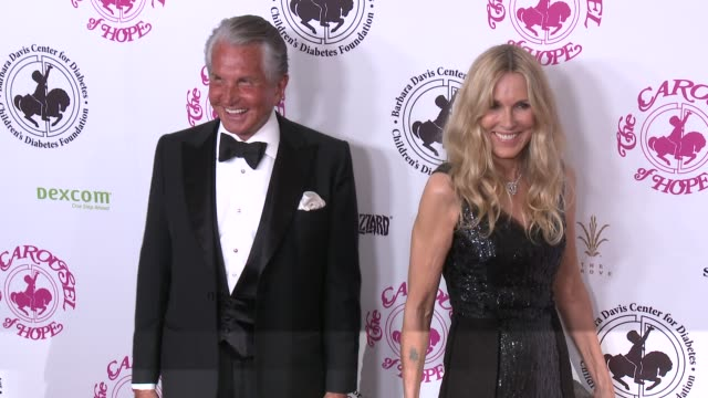 alana stewart, george hamilton at the 2016 carousel of hope ball in los angeles, ca 10/8/16 - alana stewart stock videos & royalty-free footage