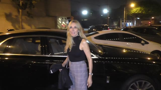 alana stewart joins rosanna arquette at craig's in west hollywood in celebrity sightings in los angeles, - alana stewart stock videos & royalty-free footage