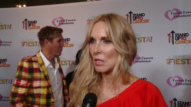alana stewart on farrah, on the foundation, on tonight's event, stand up to cancer, and everything the foundation has accomplished at farrah fawcett... - alana stewart stock videos & royalty-free footage