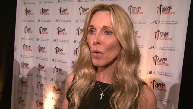 alana stewart on the event at stand up to cancer press event at the aacr annual meeting in san diego, ca 4/7/14 - alana stewart stock videos & royalty-free footage