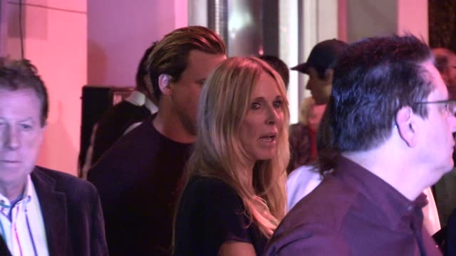 alana stewart & sean stewart at craig susser's birthday party at craigs in west hollywood in celebrity sightings in los angeles, - alana stewart stock videos & royalty-free footage