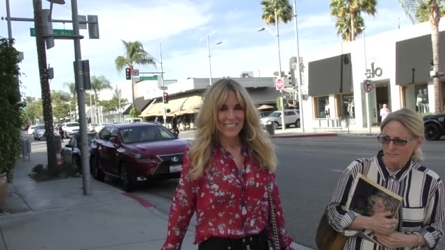 alana stewart shares her thoughts on the brett kavanaugh hearing while out in beverly hills in celebrity sightings in los angeles, - alana stewart stock videos & royalty-free footage