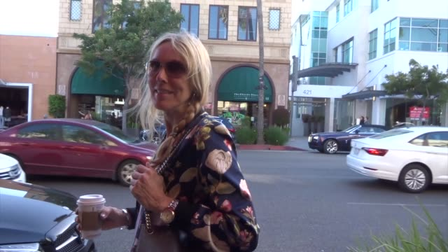 alana stewart shares her thoughts on the college admissions scandal in beverly hills in celebrity sightings in los angeles, - alana stewart stock videos & royalty-free footage