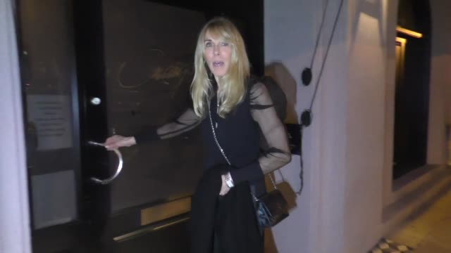 alana stewart talks about the fur protesters outside craig's restaurant in west hollywood in celebrity sightings in los angeles, - alana stewart stock videos & royalty-free footage