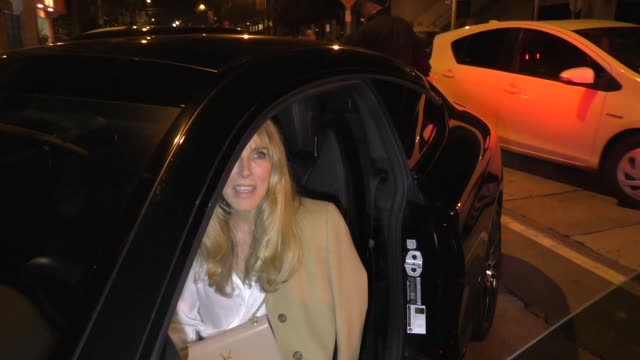 alana stewart with nicollette sheridan comments on rod stewart's new year's eve altercation outside craig's restaurant in west hollywood in celebrity... - alana stewart stock videos & royalty-free footage