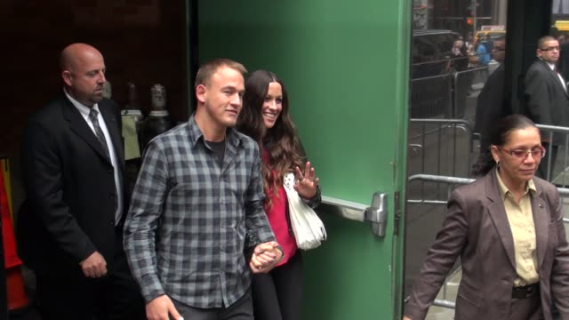 Alanis Morissette and Mario 'MC Souleye' Treadway at the 'Good Morning America' studio Alanis Morissette and Mario 'MC Souleye' Treadway on August 28...