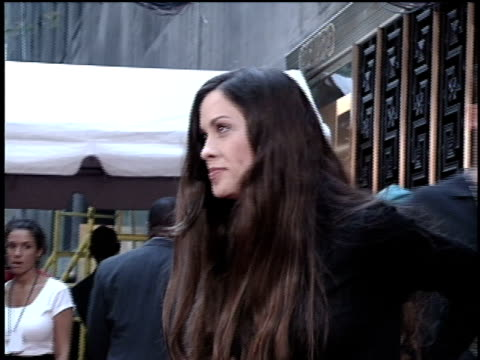 alanis morissette arriving on the 1996 mtv video music awards red carpet - 1996 stock videos & royalty-free footage