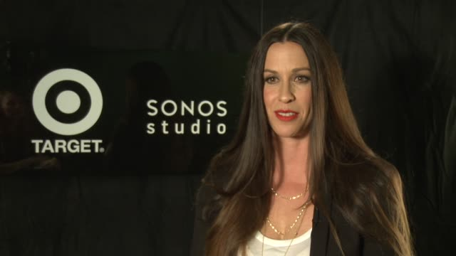 alanis morissette at alanis morissette havoc and bright lights listening party hosted by sonos and target on 8/20/12 in los angeles, ca - alanis morissette stock videos & royalty-free footage