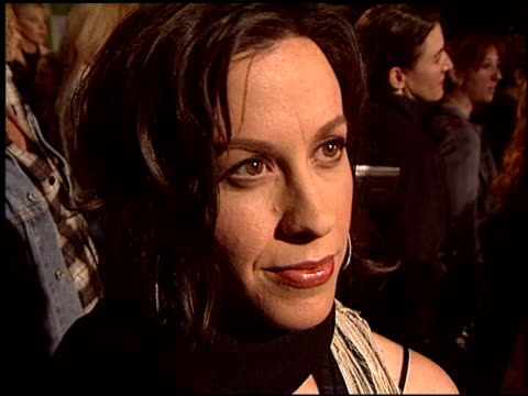 alanis morissette at the environmental media awards at ebell theatre in los angeles, california on november 5, 2003. - environmental media awards stock-videos und b-roll-filmmaterial
