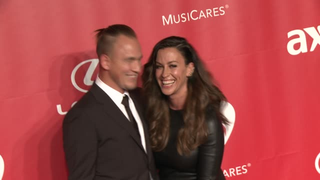 Alanis Morissette Mario Treadway at 2015 MusiCares Person Of The Year Gala Honoring Bob Dylan at Los Angeles Convention Center on February 06 2015 in...
