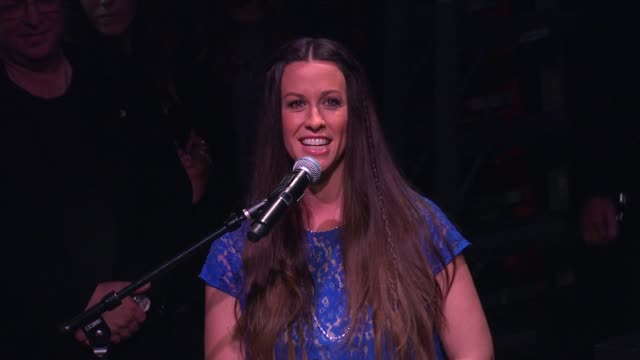 Alanis Morissette on being honored and on the women's movement in rock music at Alanis Morissette Inducted Into Guitar Center's Historic RockWalk of...