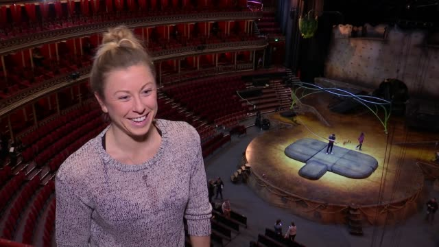 alanna baker performs with cirque du soleil at royal albert hall england london royal albert hall alanna baker interview sot - cirque du soleil stock videos & royalty-free footage