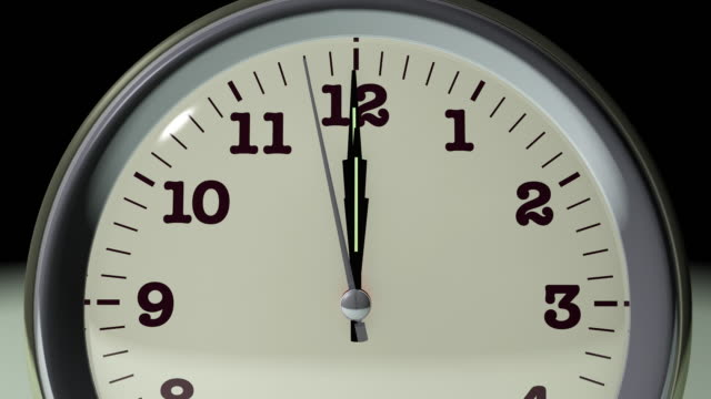 vídeos de stock, filmes e b-roll de alarme às um relógio - meia noite