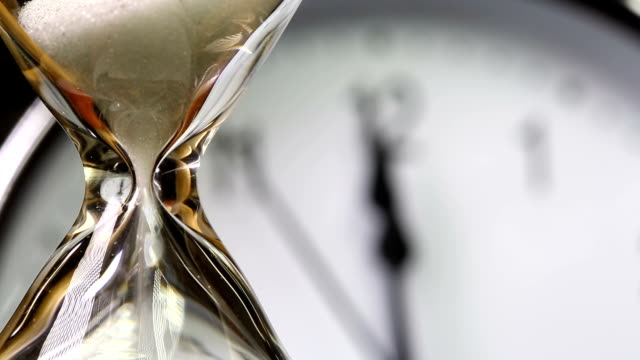 Alarm clock and Hourglass