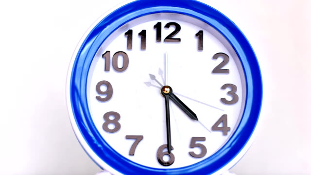 Alarm Clock From 4 pm to 5 pm Timelapse, End of Working Day