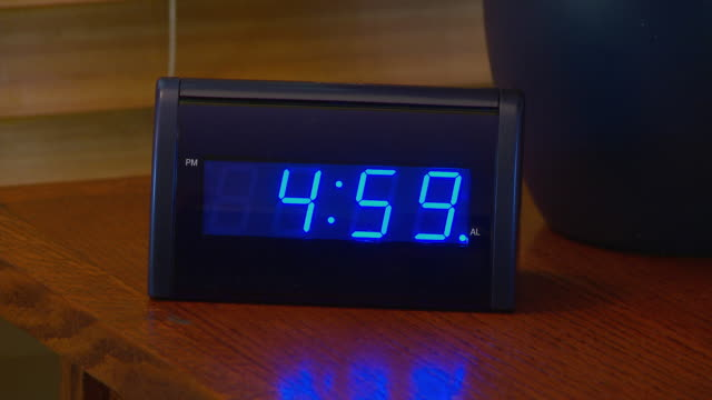 alarm clock going off at 5 am - number 5 stock videos & royalty-free footage