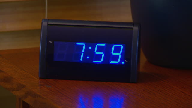 alarm clock going off at 8 am - number 8 stock videos & royalty-free footage
