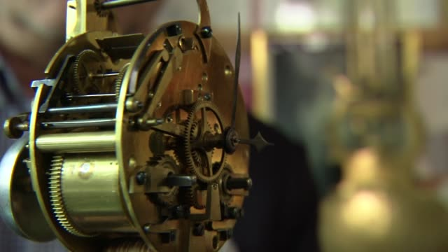 alarm clock mechanism - machine part stock videos & royalty-free footage