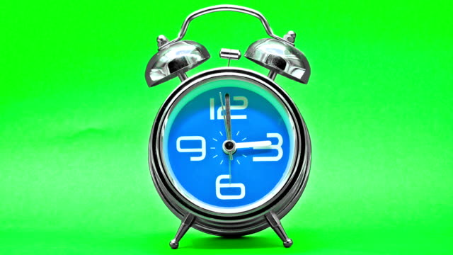 Alarm Clock Time lapse on green screen