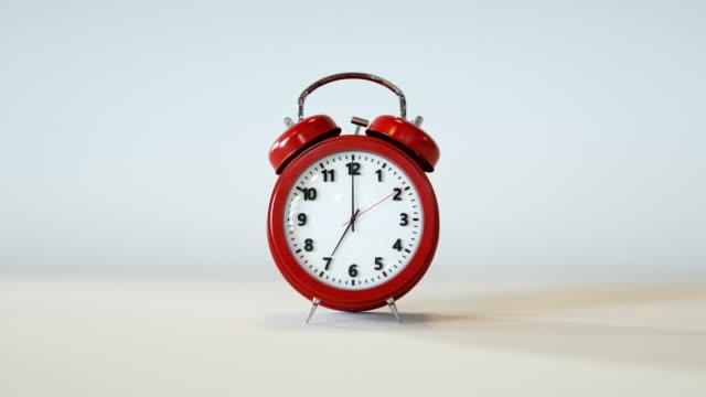 alarm clock - number 7 stock videos & royalty-free footage